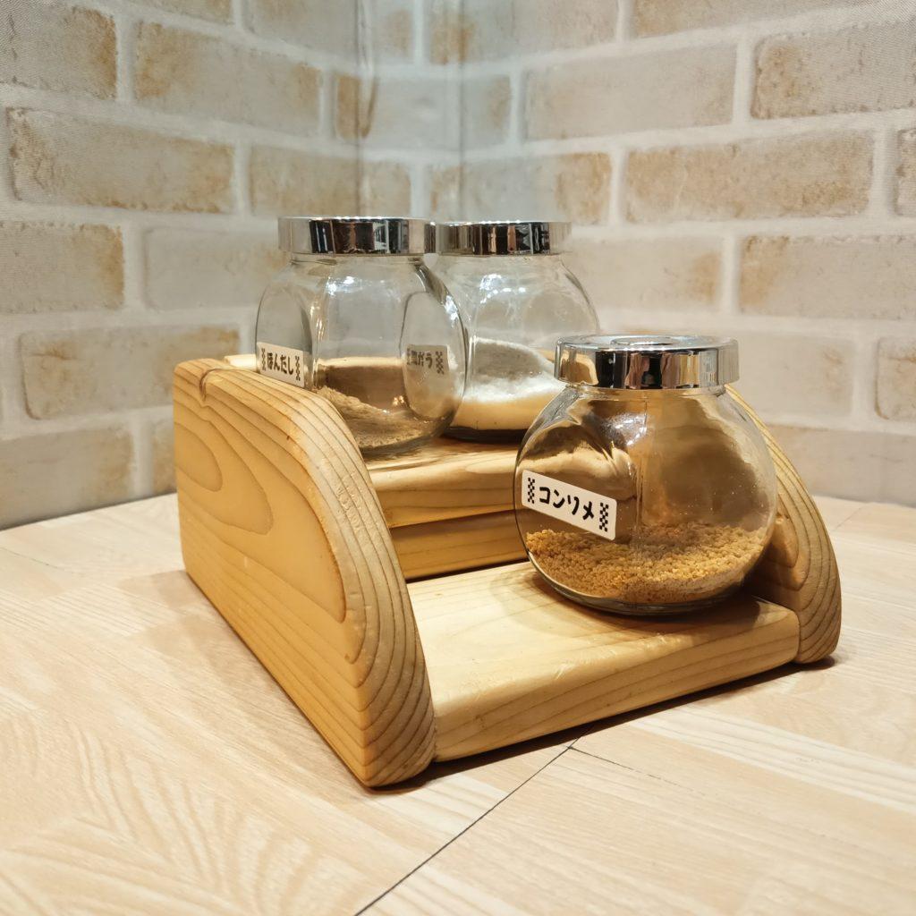 木工DIYで作った調味料小瓶ラック