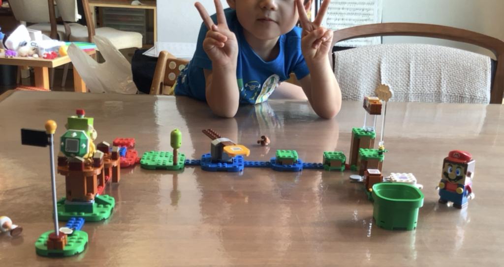 LEGOスーパーマリオ 4歳児が作ったコース