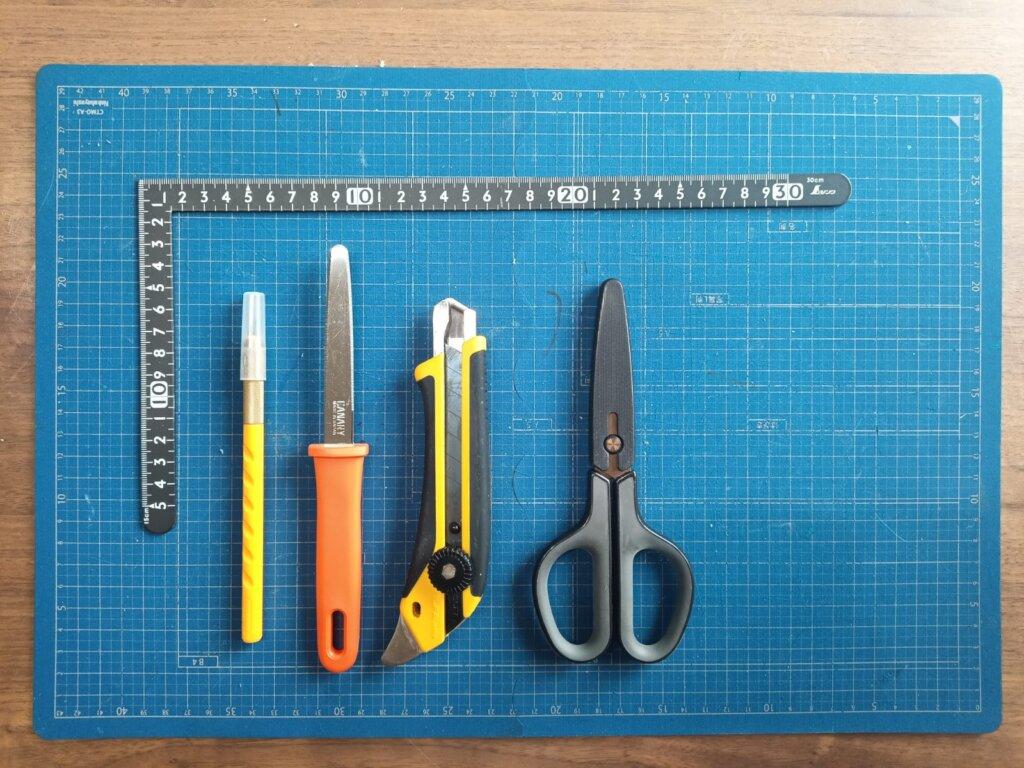 マイクラの剣 ダイヤの剣 ダイヤのツルハシ 自作 DIY エクセル方眼紙 段ボール