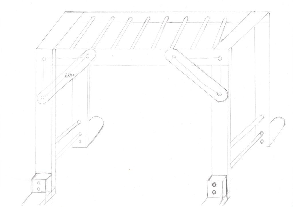 室内 うんてい 鉄棒 のぼり棒 自作 DIY 木工 イレクターパイプ 賃貸 マンション