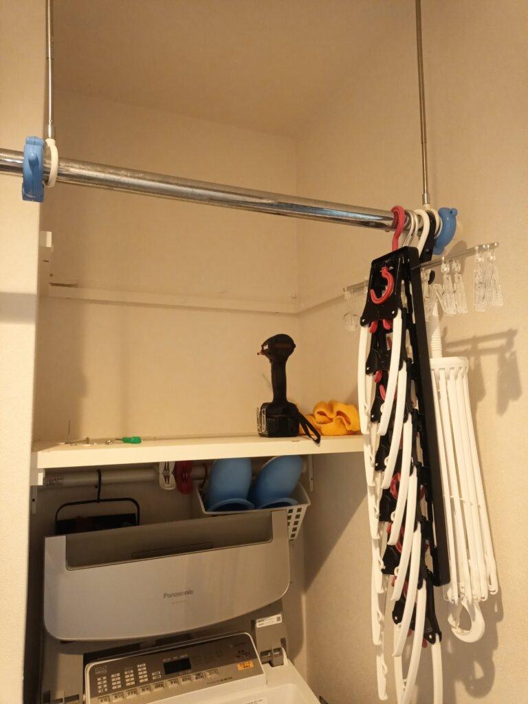 日立衣類乾燥機 設置方法 棚自作 DIY