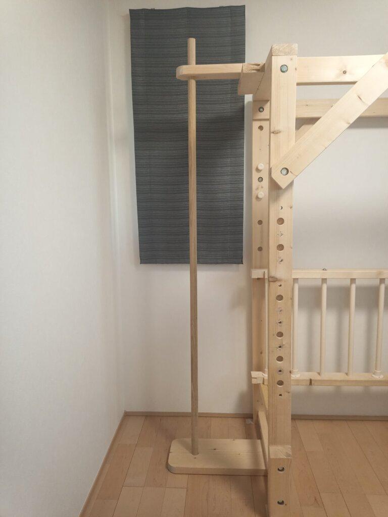 室内 屋内 のぼり棒 自作 木工