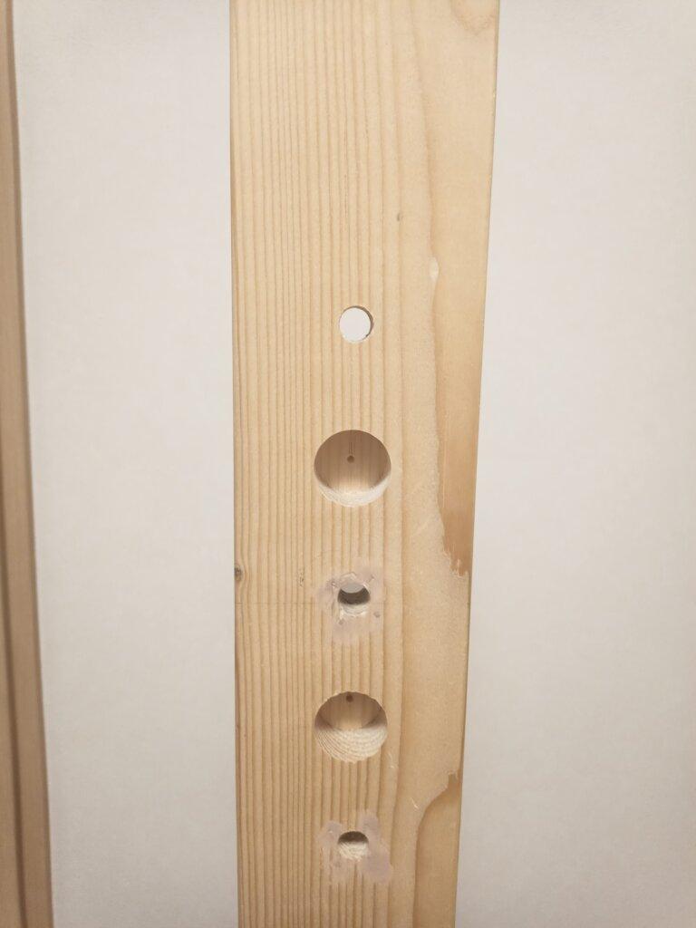 自作鉄棒の支柱拡大