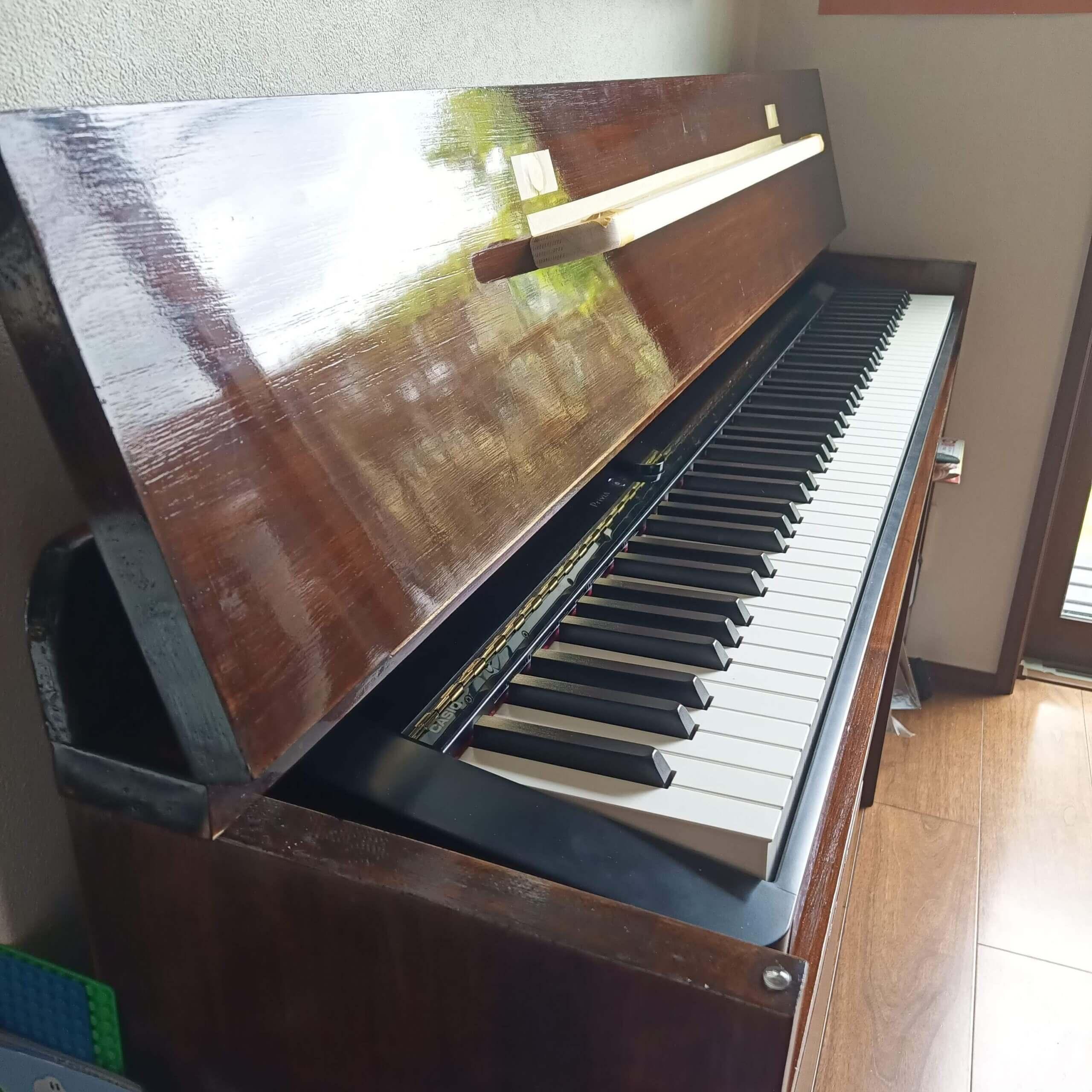 自作ピアノ台 電子ピアノ台 自作 DIY