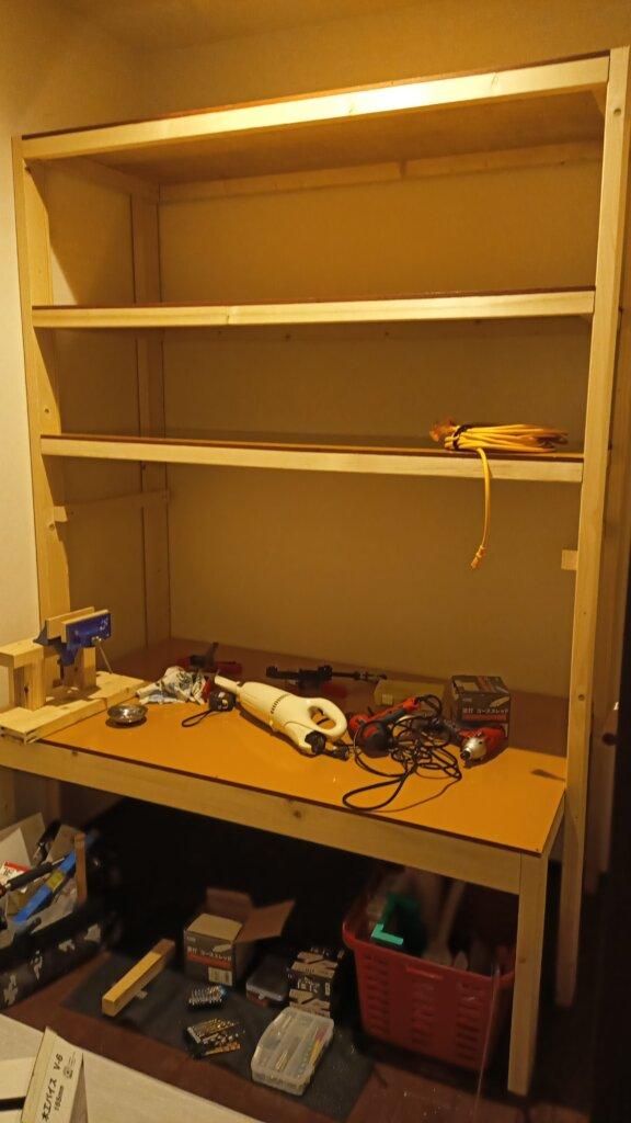 木工DIYで作った納戸用収納ラック