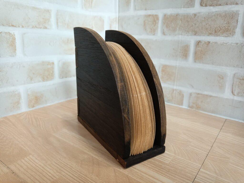 木工DIYで作ったコーヒーフィルターケース