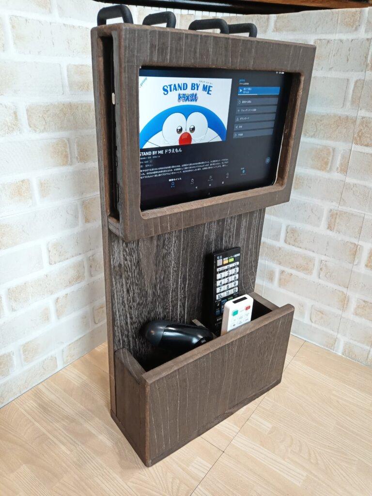木工DIYで作ったFire HD10用ホルダー&リモコン壁掛け収納