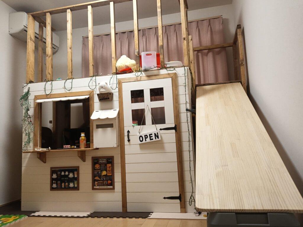 木工DIYで作ったキッズハウス